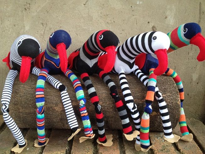 Red Sock Birds R100 each https://www.facebook.com/snugglebuggoodies