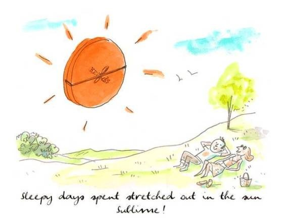 Here comes the sun! Drawing by Alice Charbin for www.hermes.com #hermes