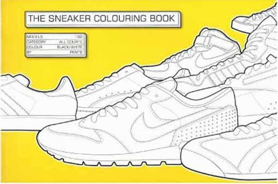 sneaker coloring book..