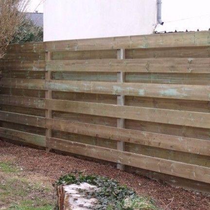 17 meilleures id es propos de palissade bois sur for Palissade en bois exterieur