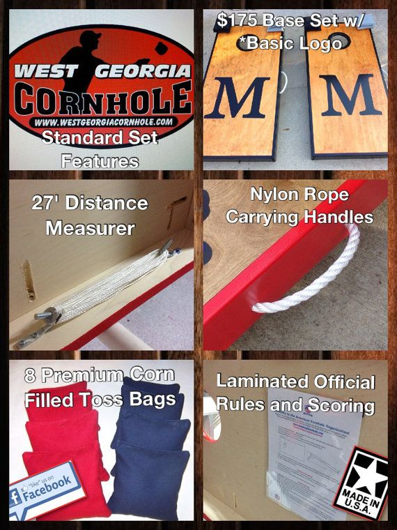 Cornhole accessories built into the board