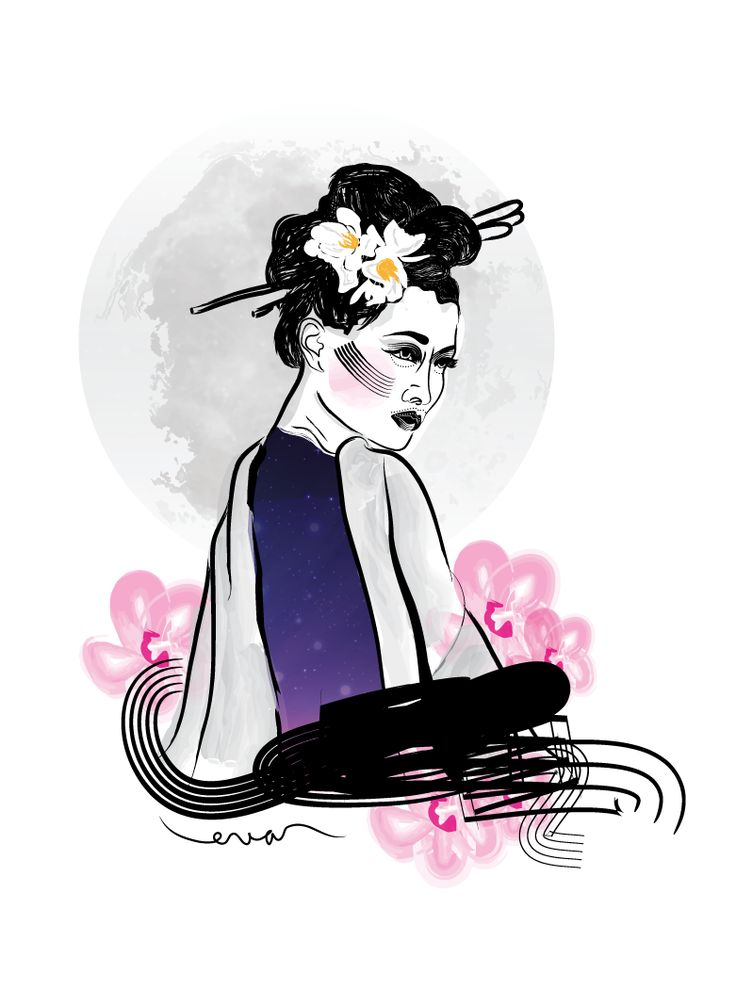 My little geisha. Digital painting <3