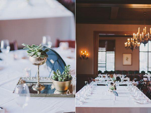 art deco wedding, succulents, gold wedding // Events by Satra // John + Louise Weddings