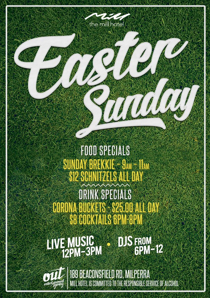 Easter Sunday - The Mill Hotel