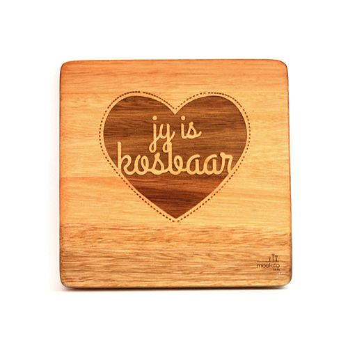 """""""Jy is kosbaar."""" A simple, creative design but such beautiful words. These can be bought individually or buy the whole set!"""