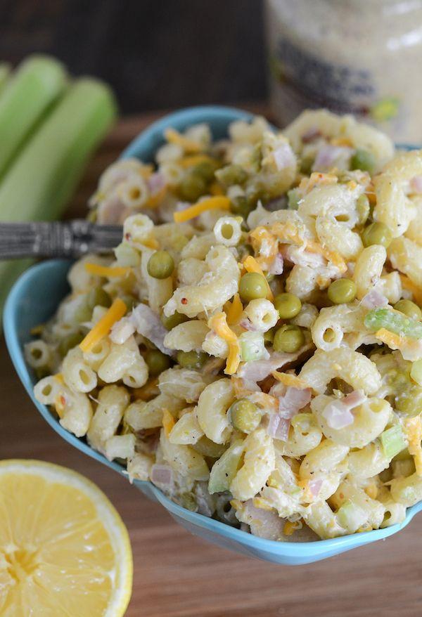 tuna pasta salad with peas no mayo