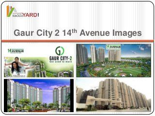 Gaur City 2 14th Avenue at Gaur City 2 Sector 16 C Greater Noida West. This colony is the final occasion for you to buy a home in GAURSONS group's project.Gaur…