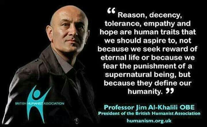humanitarian traits should be upheld not because of fearing a wrathful God, but because that's how humanity should work.