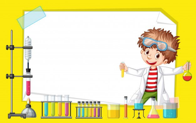 Download Frame Template Design With Kid In Science Lab For Free Kids Science Lab Science Background Science For Kids
