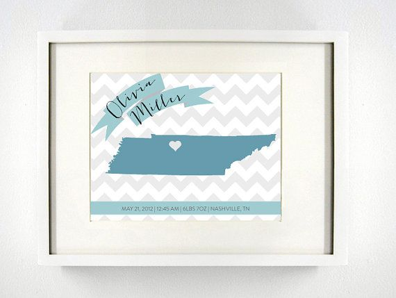 39 best tennessee love images on pinterest dorms decor best items similar to custom tennessee birth announcement gicle map art print personalized baby wall art baby announcement new baby girl and boy art on negle Choice Image