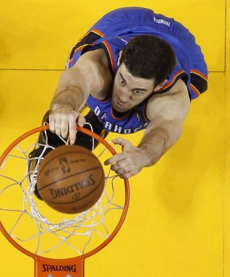 Oklahoma City Thunder power forward Nick Collison