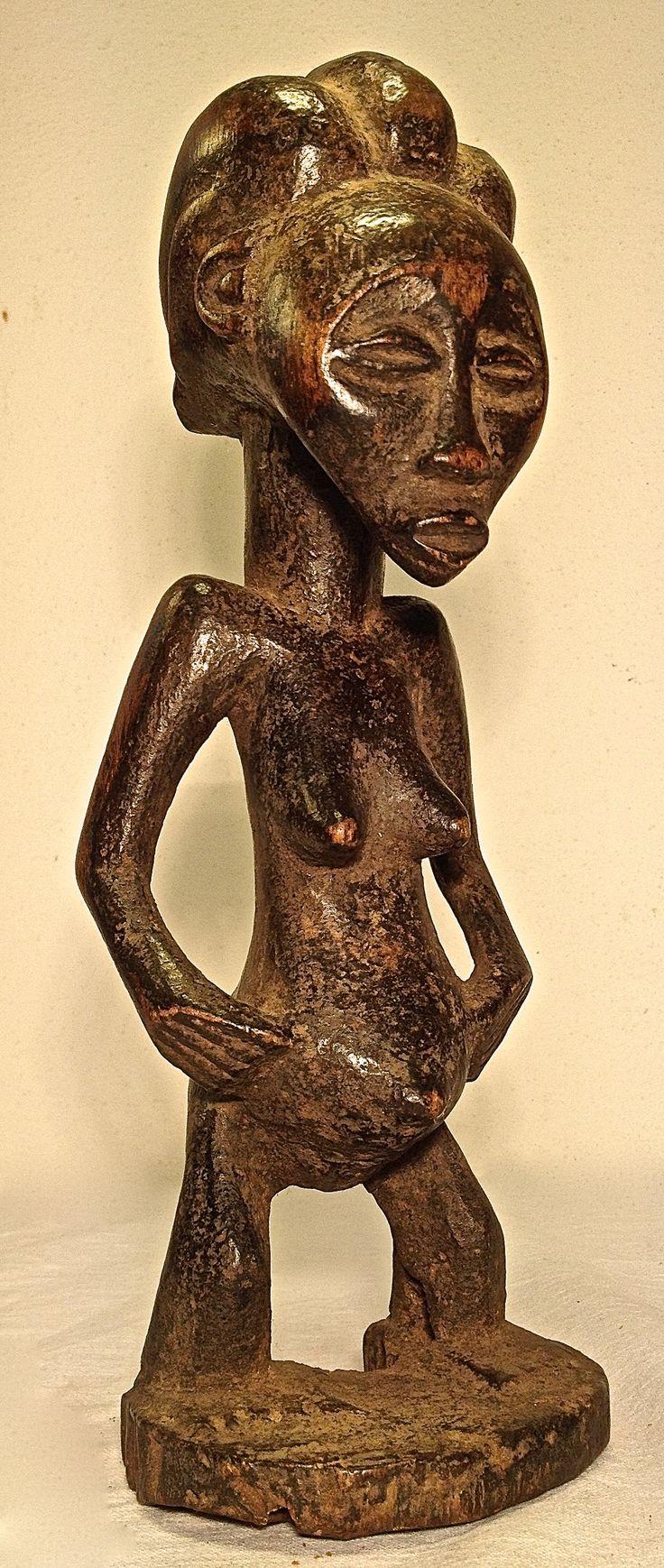 Hemba, female, statue, DRC