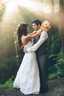 Bride  Groom - Wedding In The Woods - Zack Wilson Photography - Forest Wedding