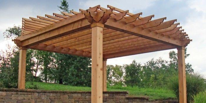 Die Herrliche Pergola Aus Holz In 93 Fotos Archzine Net Holz Pavillon Diy Pergola Holzpavillon