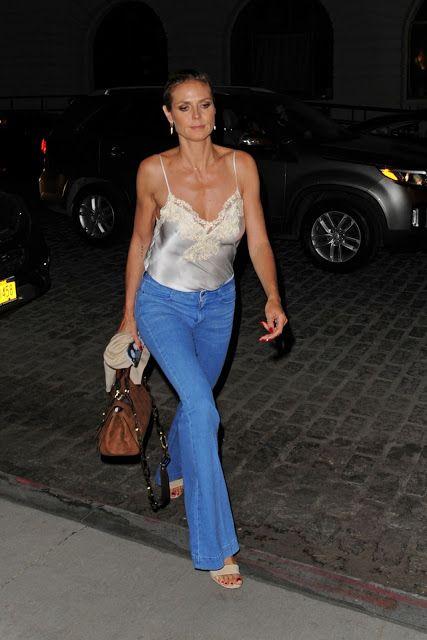 Heidi Klum Night Out Style  Leaving the Tamarind Restaurant in Tribeca June 2016  actress Heidi Klum
