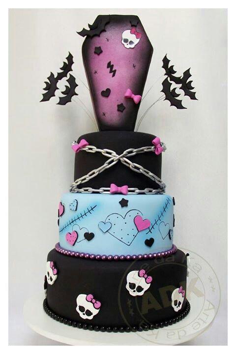 Monster High Coffin Birthday Cake