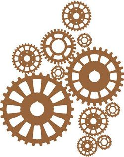 Steampunk Gears Large | Wall Decals