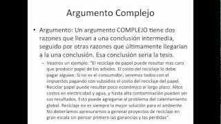 tesis y argumentos - YouTube
