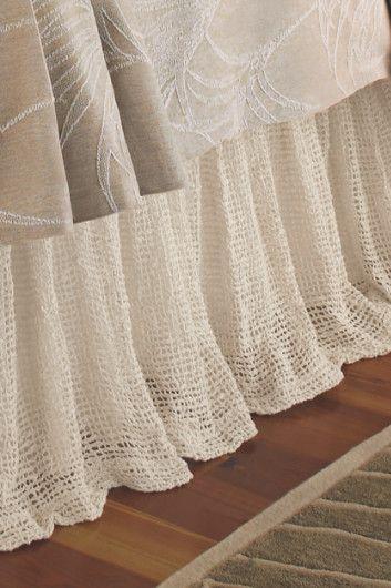 Bedroom  bed linen  RAW SILK WOVEN BEDSKIRT from http