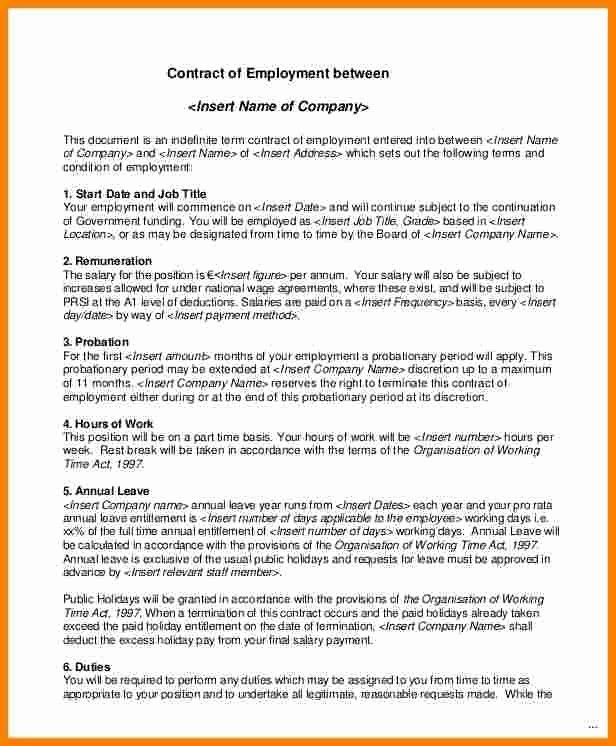 Part Time Nanny Contract Template Best Of 12 Salary Contract Template Nanny Contract Template Contract Template Part Time Nanny