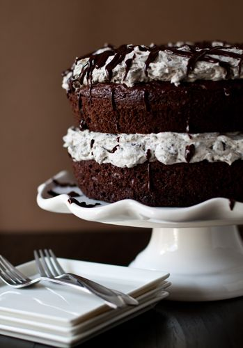 Oreo Cake with Oreo Buttercream Frosting.