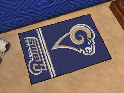 "NFL - Los Angeles Rams Uniform Starter Rug 19""x30"""