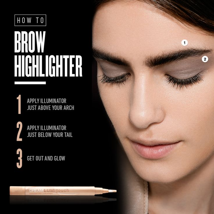 Make brow contact before eye contact and let your brows do the talking. Give your brows the extra attention they deserve with the Maybelline DREAM LUMI touch highlighter.