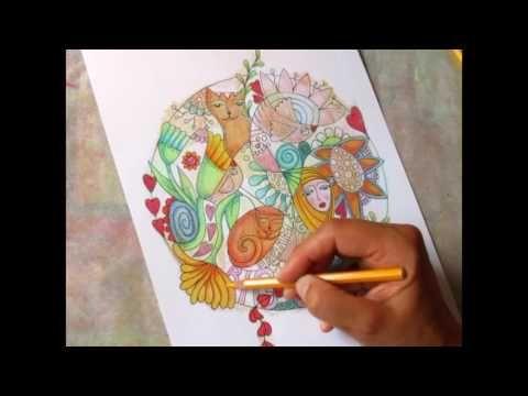 coloring mandala finished   MPEG4