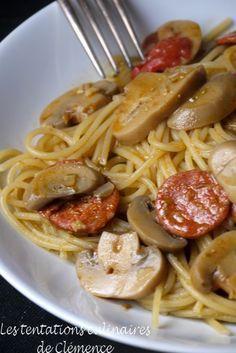 Un repas en 30 min à moins de 4€ par personne : one pan pasta champignons, chorizo et pesto