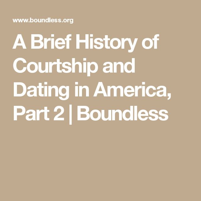 A Brief History Of Courtship And Dating In America