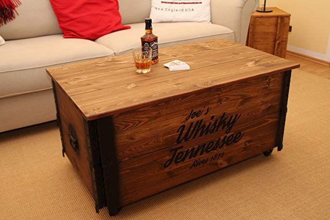 Uncle Joe S Couchtisch Xl Whisky Truhentisch Truhe Im Vintage Shabby