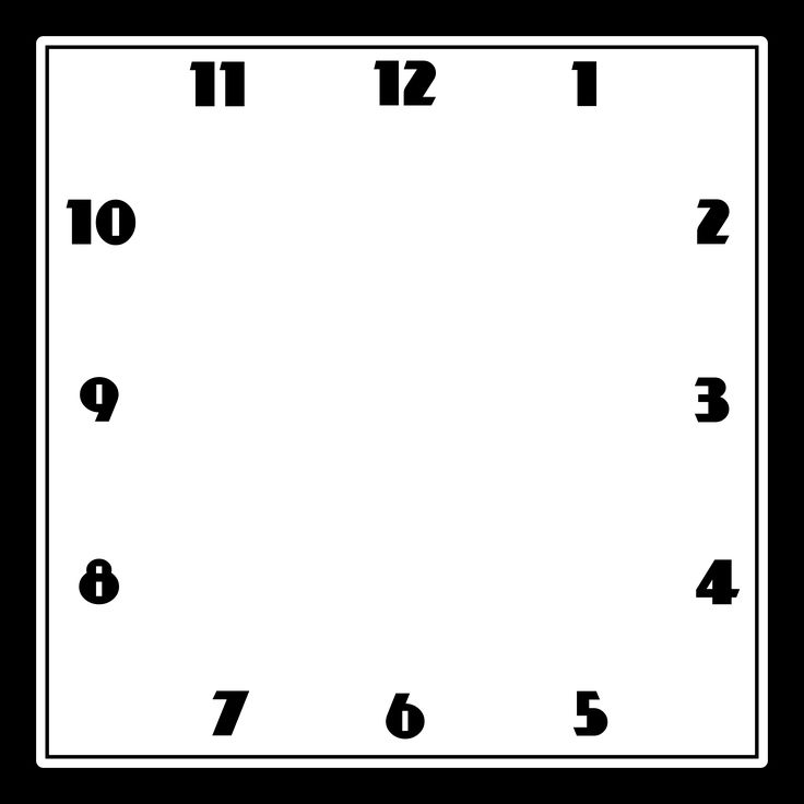 Clock Face Template Square Clock Template Basic Black
