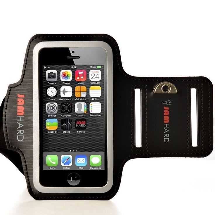 Armband For iPhone 5 5S  5C iPod Touch 5 Key Holder Black Sports Case  #JAMhard