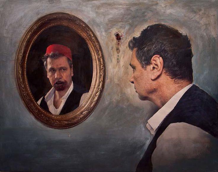 Self-Portrait, 2012,  Acrylic on Colour Photograph Mounted on Canvas,  120x150 cm  #art #artist #contemporary #contemporaryart #contemporaryartist #ismetdogan