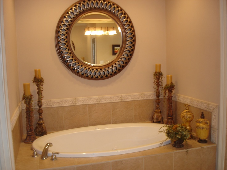 1000 images about garden tub decor ideas on pinterest for How to decorate a garden tub bathroom