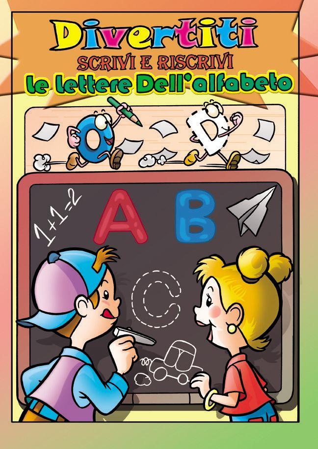 Album giochi per imparare le lettere dell'alfabeto