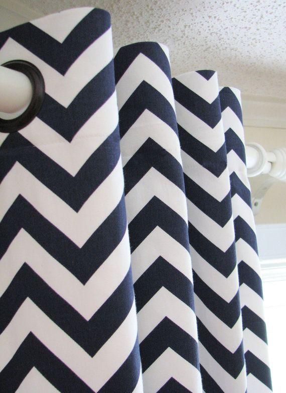 Curtains Ideas chevron curtains blue : 16 best ideas about Indigo/navy/love on Pinterest | Kitchen ...
