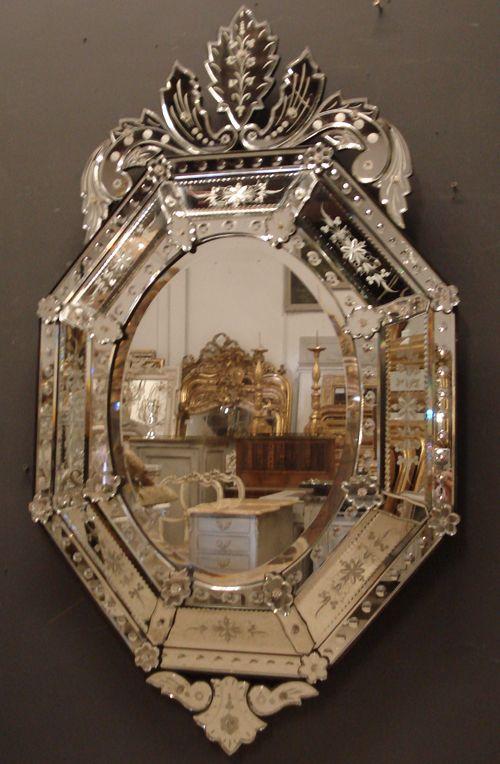 Large 1930s Venetian Mirror From Jasperjacks