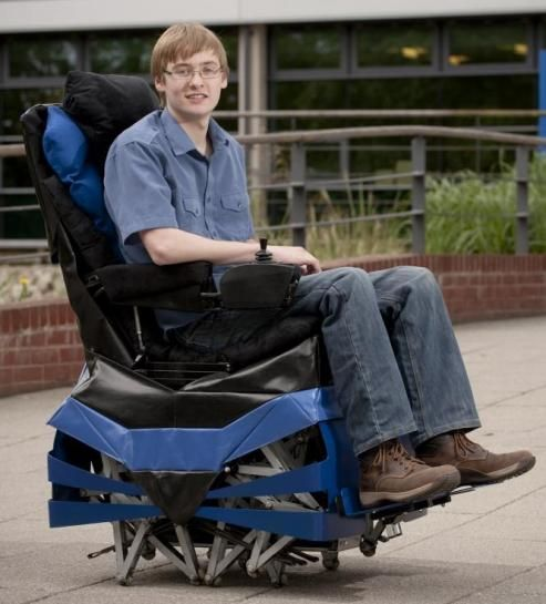 Cool walking wheelchair inspired by Theo Jansen's sculptures.