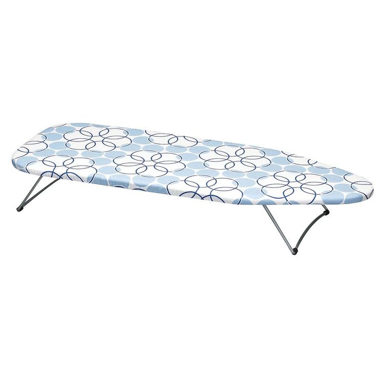 Household Essentials Handy Board Tabletop Ironing Board with Swivel Hanging Hook, Blue