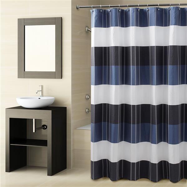 Fairfax Navy Shower Curtain | Croscill #shower #showercurtain #curtain  #pattern #blue
