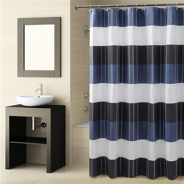 Shower Curtains are vinyl shower curtains safe : 17 Best ideas about Navy Shower Curtains on Pinterest | Spare ...