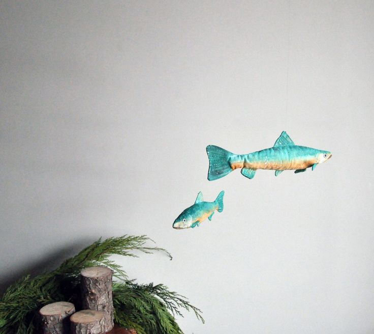 Gill To Gill - Bull Trout Fish Mobile Art by Annex Suspended