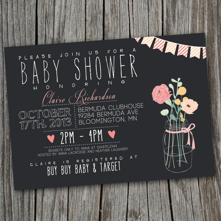 29 best images about baby shower on pinterest | love is sweet, Baby shower invitations