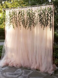 Unique outdoor wedding ceremony decor; Via Haute Floral