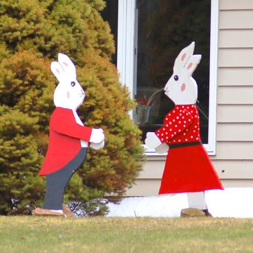 Easter Bunny Couple
