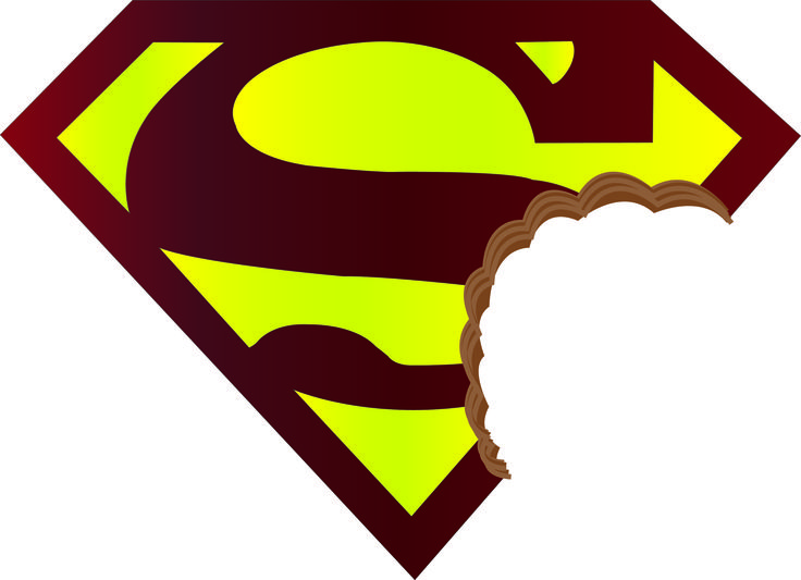 escudo de Superman mordido