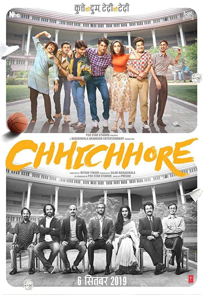 Chhichhore Sushant Singh Rajput Shraddha Kapoor Movie Box Office Varun Sharma In 2020 Download Movies Hd Movies Download Hd Movies