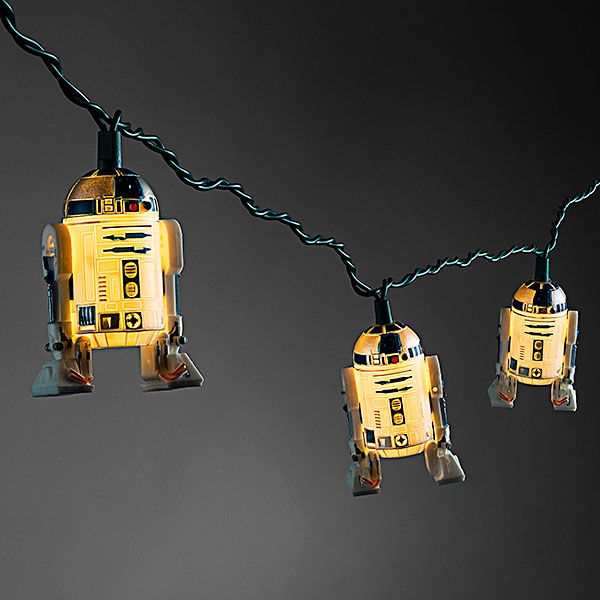 It's not a holiday party with R2-D2! Get a set of 10 lighted R2 units to string up on your tree, your wall, around your door, or anywhere else you need some droidly holiday cheer.