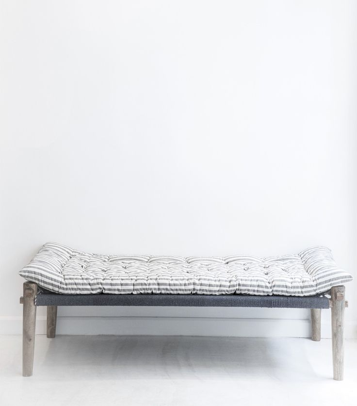 Ethnic charpoy white and grey 35x71x18 inches